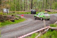 K. Culliname que conduz Opel Corsa Imagens de Stock Royalty Free