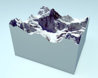 K2 cutaway section. Himalaya mountains Royalty Free Stock Photography