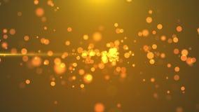 4K cząsteczek ruchu Złoci Mruga tła zdjęcie wideo