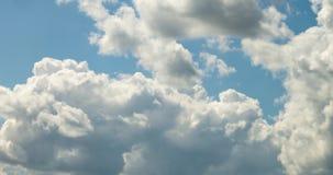 4k czasu upływu klamerka kilka cumulusu kołysania się chmury puszyste kędzierzawe warstwy w wietrznej pogodzie zdjęcie wideo