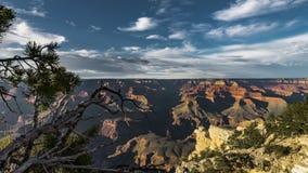 4K déplaçant l'agrafe de film de film de Timelapse du parc national de Grand Canyon, Arizona, Etats-Unis - vue du nord de jante d clips vidéos
