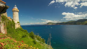 4K промежуток времени, d'Elba Isola, Италия акции видеоматериалы
