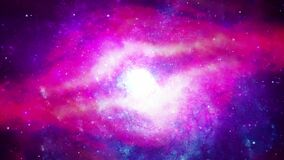 4K 3D Outer space animation Space flight to Helix nebula eye of God in Deep Space.