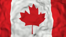 4k 3D realístico detalhou a bandeira de Canadá do movimento lento, fundo animado de voo da bandeira de Irã,