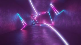 4k 3d render, looped animation tunnel, abstract seamless background, fluorescent ultraviolet light, glowing neon lines. 3d render, abstract seamless background royalty free illustration