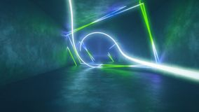 4k 3d render, looped animation tunnel, abstract seamless background, fluorescent ultraviolet light, glowing neon lines. 3d render, abstract seamless background vector illustration