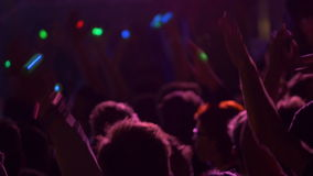 4K dancing crowd at party Stock Photography