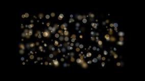 4k de abstracte achtergrond van vuurwerk lichte punten, bellendeeltjes, bacteriënsporen stock footage