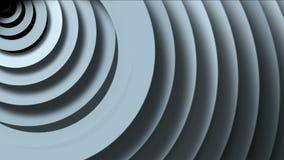 4k de abstracte cirkelring maakt 3d tunnelgat, 3d document de golfruimte van rimpelingenkaarten rond stock video