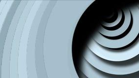 4k de abstracte cirkelring maakt 3d tunnelgat, 3d document de golfruimte van rimpelingenkaarten rond stock footage