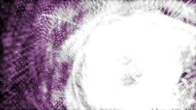 4k de bewegende achtergrond van purpuredeeltjes stock illustratie