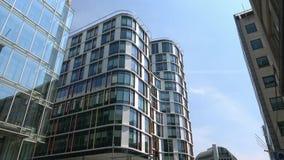 4K De bureaubouw in Europees district van Brussel Europees Kwart stock video