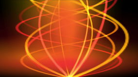 4k de gouden spiraalvormige rook van de brandlijn, energiesignalen, verwarmt de trillingsgolf van het gloedritme stock video