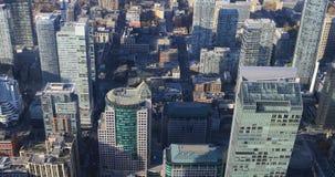 4K de Luchtmening van UltraHD over de gebouwen van Toronto stock video