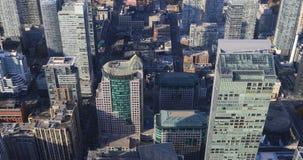 4K de Luchtmening van UltraHD over de straten van Toronto stock video