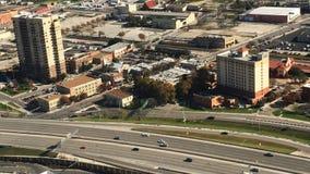 4K de Luchtmening van UltraHD van het autoverkeer van San Antonio stock video