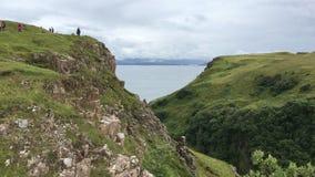 4K de mening van UltraHD Clifftop van het Eiland van Skye stock videobeelden