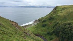 4K de mening van UltraHD Clifftop van het Eiland van Skye, Schotland stock footage
