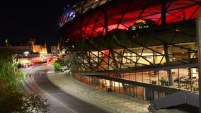 4K de nacht van UltraHD A timelapse door het interessante Shaw-centrum in Ottawa, Canada stock videobeelden