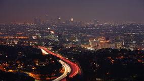 4K de nachtmening van UltraHD Timelapse in Los Angeles, Californië stock video