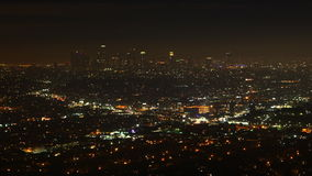 4K de nachtmening van UltraHD Timelapse van Los Angeles, Californië stock footage