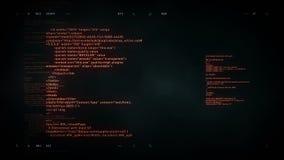 4K de scrollende zwarte van de computercode stock videobeelden