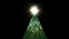 4k de tunnel van de deeltjeshalo, de laser licht vuurwerk van de piramidestraal, energieachtergrond royalty-vrije illustratie