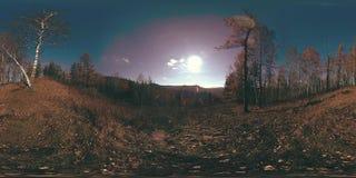 4K 360 de virtuele Werkelijkheid van VR van een mooie bergscène in de de herfsttijd Wilde Russische bergen stock footage