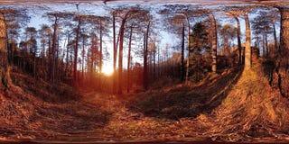 4K 360 de virtuele Werkelijkheid van VR van een mooie bergscène in de de herfsttijd Wilde Siberische bergen stock video