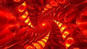 4K Deep tunnel of red and yellow glass balls. 4K UHD 3840 x 2160 ultra high definition stock video