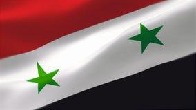 4k detalló altamente la bandera de la república árabe siria ilustración del vector