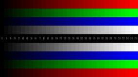 4K, die Instrumententafel-Leuchte HD LCD, die Fernsehen blutet, prüft, defekte tote Pixel prüfen, RGB-Gerichte lizenzfreie abbildung