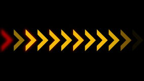 4k Direction arrow queue design signs background,game software process backdrop. royalty free illustration