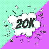 20K disciples, bulle de la parole Bannière, bulle de la parole, concept d'autocollant, illustration stock