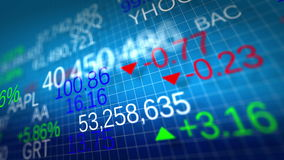 4K. Display of Stock market quotes. stock video footage