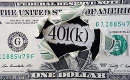 401 (k) dólar Imagen de archivo libre de regalías