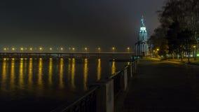 4K. Dnepropetrovsk nachts, Zeitspanne 1 stock video footage