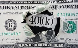 401(k) dollar Royalty Free Stock Image