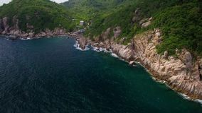 4K Drone; Lang Khaai, Koh Tao, Thailand stock footage