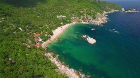 4K Drone; Tanote Bay flyover, Koh Tao, Thailand stock video footage