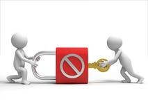 Kędziorek i klucz Zdjęcie Royalty Free