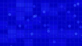 4k el circuito cuadrado virtual, líneas de la tecnología de la ciencia, matriz puntea el fondo de la exploración ilustración del vector