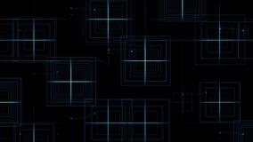 4k el circuito eléctrico virtual, líneas de la tecnología de la ciencia, matriz puntea el fondo de la partícula stock de ilustración