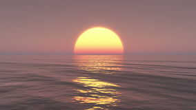 4k elevação grande sobre o oceano, lapso de Sun de tempo do nascer do sol filme