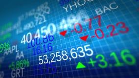 4K Esposizione delle citazioni del mercato azionario illustrazione vettoriale