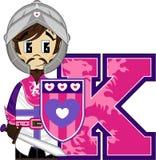 K est pour le chevalier Images libres de droits