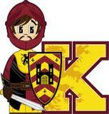 K est pour le chevalier Photos stock