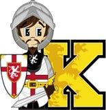 K est pour le chevalier Photo libre de droits