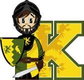 K est pour le chevalier Photographie stock libre de droits