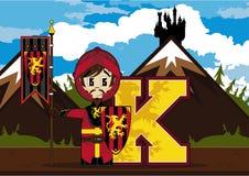 K est pour le chevalier Illustration Stock
